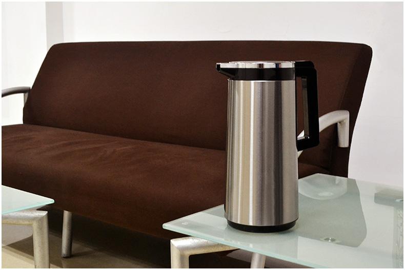 不锈钢保温壶 玻璃内胆热水瓶 家用保温瓶 保温水壶 开水瓶暖 壶暖瓶 咖啡壶1.9L